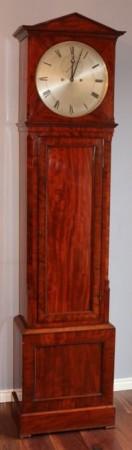 SCOTTISH SMALL MAHOGANY JEWELLED REGULATOR LONGCASE CLOCK