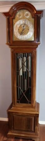REID & SONS NEWCASLTE ELLIOTT MUSICAL TUBULAR LONGCASE CLOCK