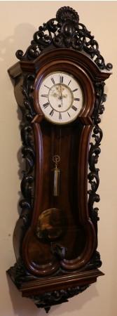 Lenzkirch Serpetine Open Brocot Vienna Wall Clock