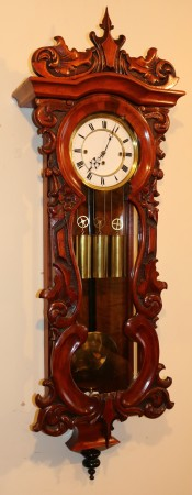 Triple weight  Vienna Wall Clock