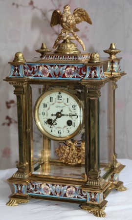 Champleve Mantle Clock