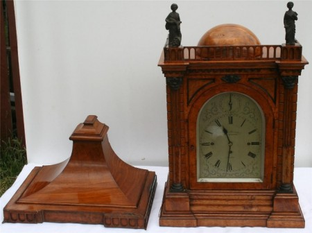James Murray Royal Exchange London Pollard Oak Triple Fusee Bracket Clock