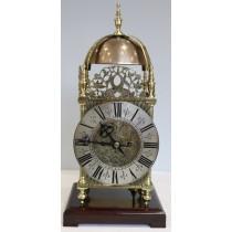 Victorian Brass Lantern Double Fusee Quarter Striking Mantle Clock