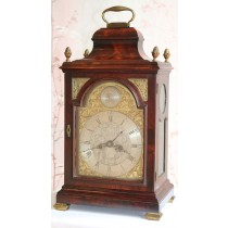 George III Mahogany Verge Table Clock By Smoult Southshields Circa 1780