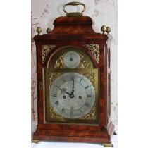 George III Quarter Striking Mahogany Bracket Clock 1770 By J Hawthorn of Newcastle