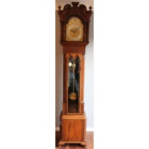 Gillows Mahogany Carved tubular longcase regulator clock WATCH VIDEO