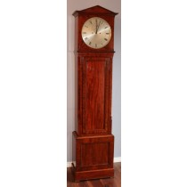 SCOTTISH SMALL MAHOGANY JEWELLED REGULATOR LONGCASE CLOCK