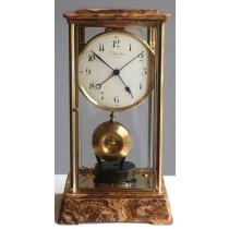 Bardon Marble Art Deco Sweep Second Electric Clock Watch Video