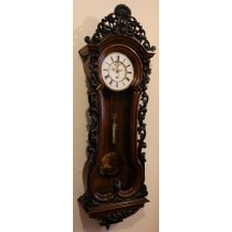 Lenzkirch Serpetine Open Brocot Vienna Wall Clock