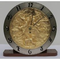 RARE ART NOUVEAU BRONZE CHEREB WINTERHALDER & HOFFMIER W&H FUSEE MANTLE CLOCK